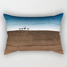 Life in the desert Rectangular Pillow