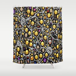 mental emojis emoticons icons Shower Curtain