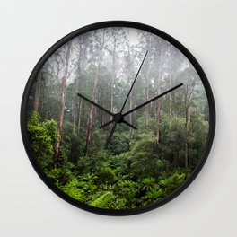 Forest and Fog Wall Clock