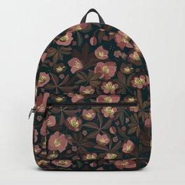 Moody helleborus | blush brown Backpack