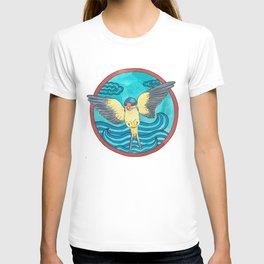 Bird swallow and sea T-shirt