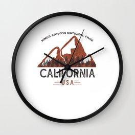 Vintage Kings Canyon National Park Wall Clock