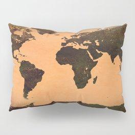 World Map Grunge Pillow Sham