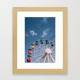 Colourful Ferry Wheel Framed Art Print
