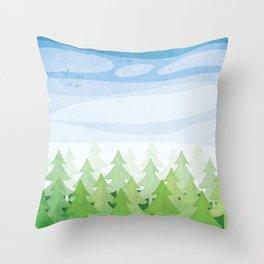 Kawartha Forest Throw Pillow