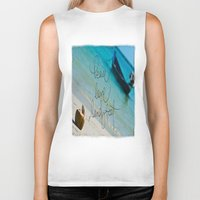 coconut wishes Biker Tanks featuring Coconut Boats by Zhineh Cobra