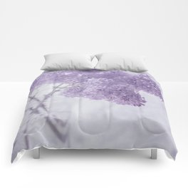 First Love - Pastel Purple Lilac Floral Decor Comforters