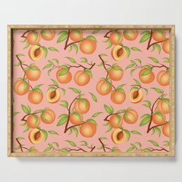 Practice What You Peach - Peaches on Pink Serving Tray