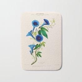 """Celestine (blue bindweed) from """"Flore d'Amérique"""" by Étienne Denisse, 1840s Bath Mat"""