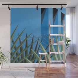 Tropical Blue Wall Mural