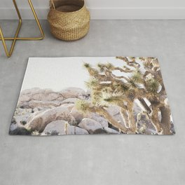 Close Up Of Joshua Tree In Desert Rug