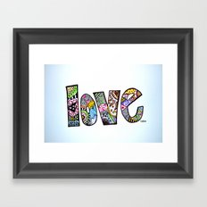 love is all you need. (color) Framed Art Print