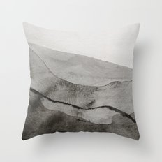 Ink Layers Throw Pillow