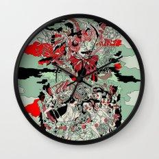 UNINVITED GARDEN Wall Clock