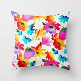 Dancing Floral Throw Pillow