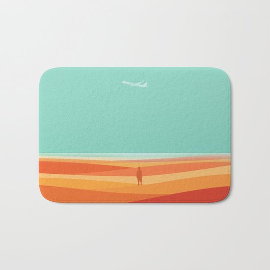 Where the sea meets the sky Bath Mat