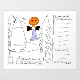 Angel Body Bowtie Tails 0007 Art Print
