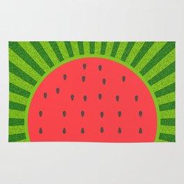 Sweet Summer Watermelon Red & Green Rug