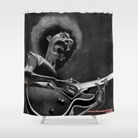 zappa Shower Curtains featuring Frank Zappa by Katon Aqhari