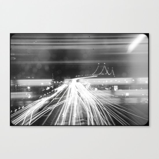 The Night Vibes Electric Canvas Print