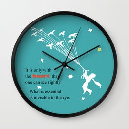 LITTLE PRINCE -Le petit prince- art poster Wall Clock