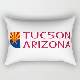 Arizona: Tucson (State Shape & Flag) Rectangular Pillow