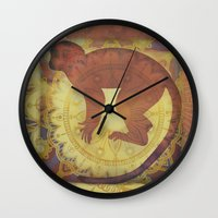 journey Wall Clocks featuring Journey by SpaceFrogDesigns
