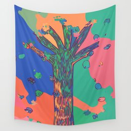 Colorful First Sprint Blossoms Wall Tapestry