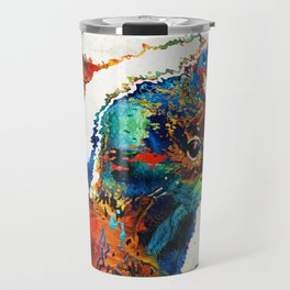 Colorful Skunk Art - Dee Stinktive - By Sharon Cummings Travel Mug