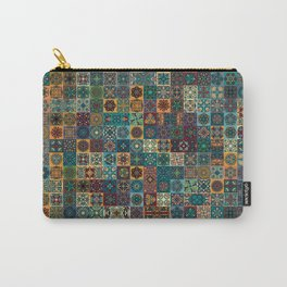Colorful abstract tile pattern design Carry-All Pouch