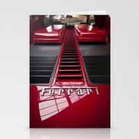 ferrari Stationery Cards featuring Ferrari behind. by Cozmic Photos