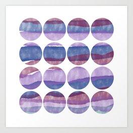 Marbled Landscape Art Print