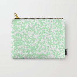 Small Spots - White and Mint Green Carry-All Pouch