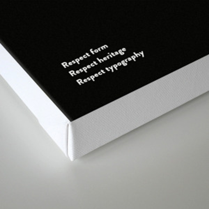 Sans Serif Vol  ¹ – Brandon Grotesque Canvas Print