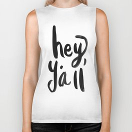 Hey Y'all brushed lettering Biker Tank