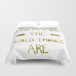 Wild Things - Gold Duvet Cover