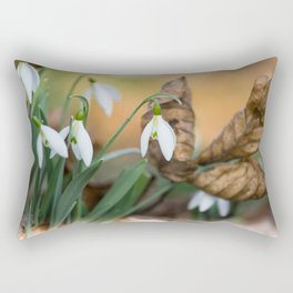 Opposites new and old in the garden Rectangular Pillow