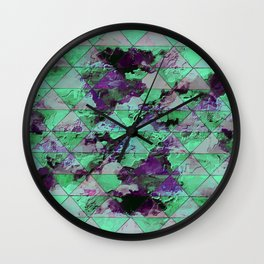 Oval with triangles Wall Clock