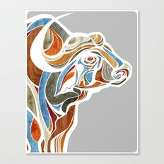 Cape Buffalo (technicolor) Canvas Print