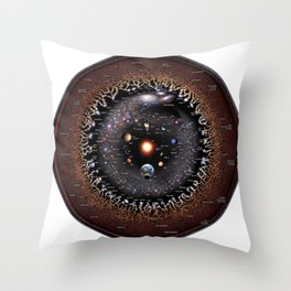 Observable Universe Logarithmic Illustration (Annotated 2019 Version!) Throw Pillow