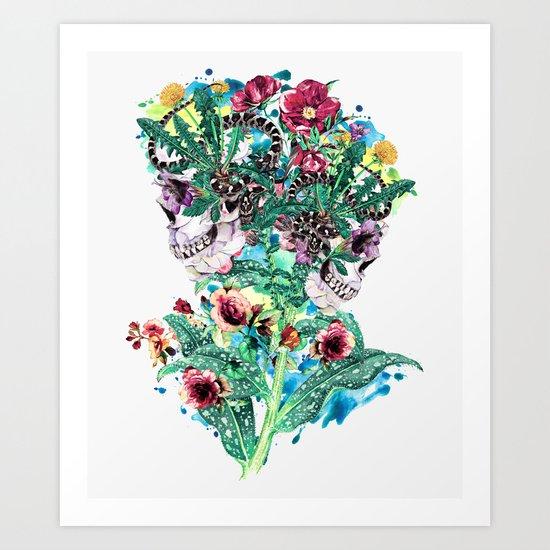 Skull BS Art Print