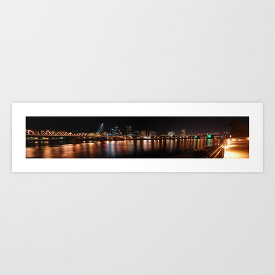 reflections of portland Art Print