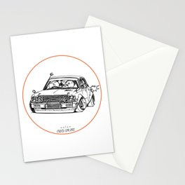 Crazy Car Art 0224 Stationery Cards