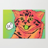 mew Canvas Prints featuring Mew! by Purrito Press