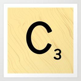 Scrabble C Decor, Scrabble Art, Large Scrabble Prints, Word Art, Accessories, Apparel, Home Decor Art Print