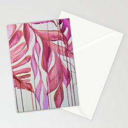 Drippy Pink Fauna Stationery Cards