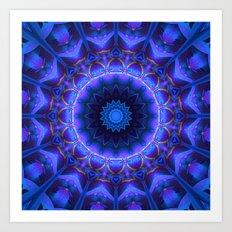 Cold Fire Mandala Art Print