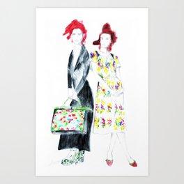 Fashionable Friends Art Print