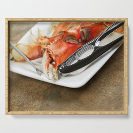 Freshly Cooked Dungeness Crab Serving Tray