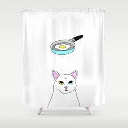 Fat D. Loves Fried Egg Shower Curtain